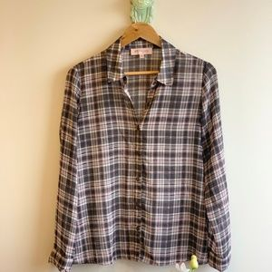 Philosophy | Plaid Button Down Top